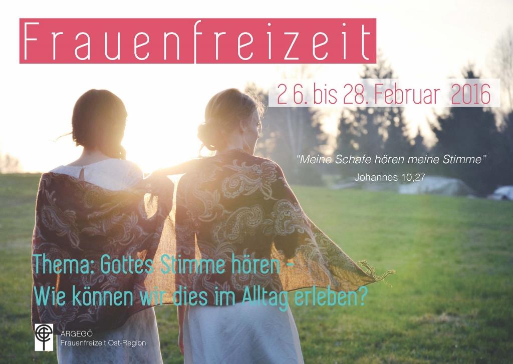 ARGEGÖ Frauenfreizeit Ost 2016