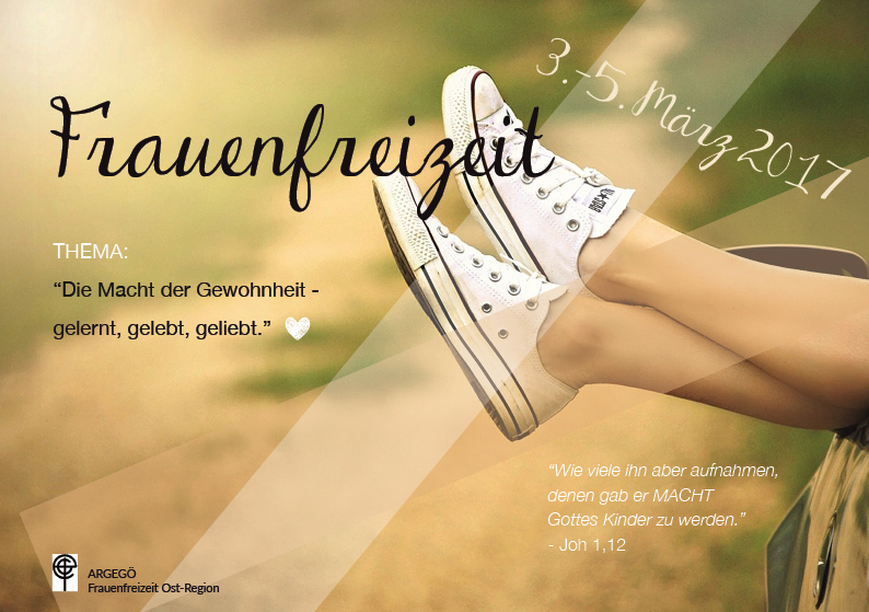 Einladung zur ARGEGÖ Frauenfreizeit Ost 2017